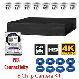 8 CH CAMERA NVR KIT WITH POS CONNECTIVITY