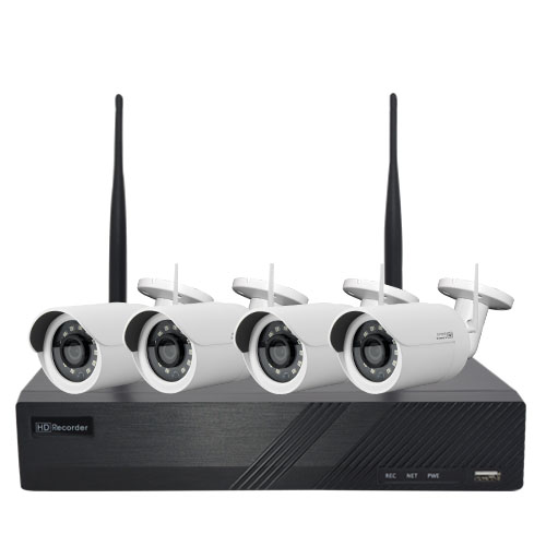 4CH Wireless WiFi NVR KIT